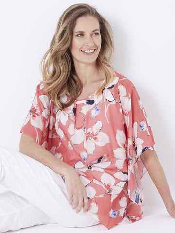 Gerry Weber Coral Chiffon Top