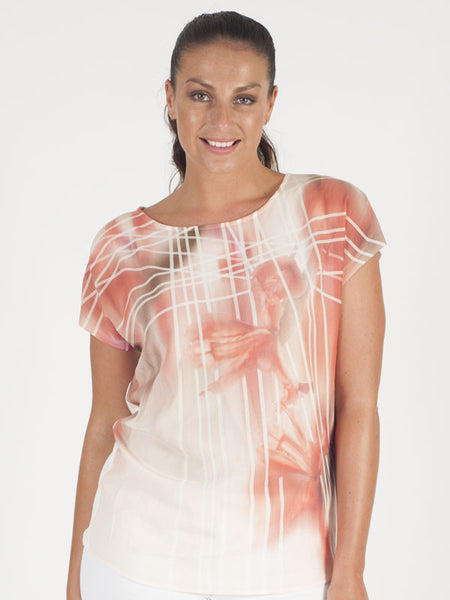 Gerry Weber Ivory Abstract Print T-Shirt