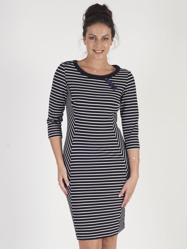 Gerry Weber Navy Stripe Dress