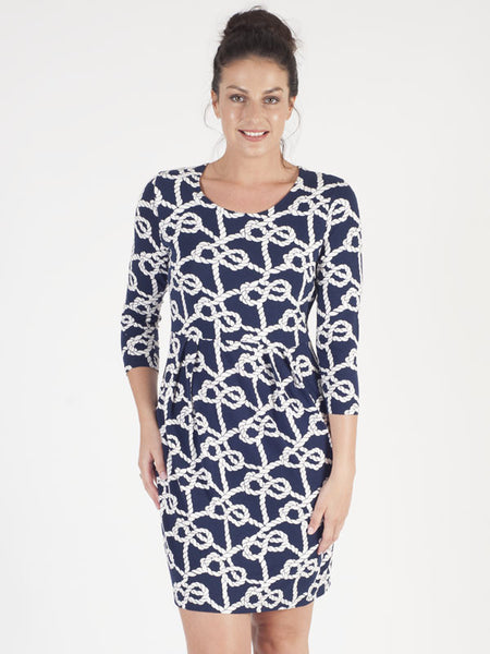 Gerry Weber Navy Rope Print Dress