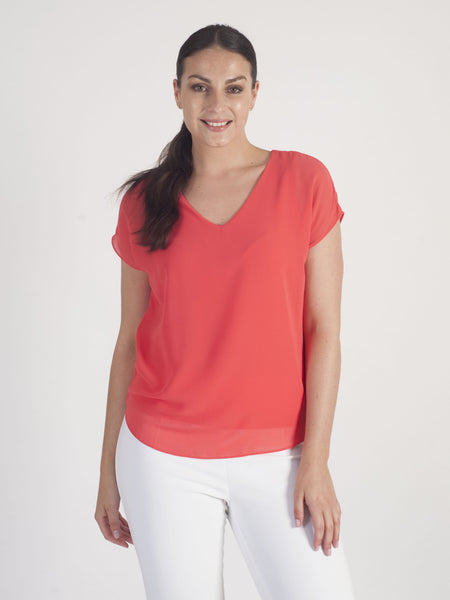 Gerry Weber Coral Sheer Layered T-Shirt