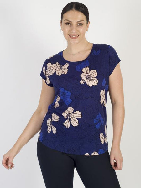 InWear Pink/Blue Leaf Print Top