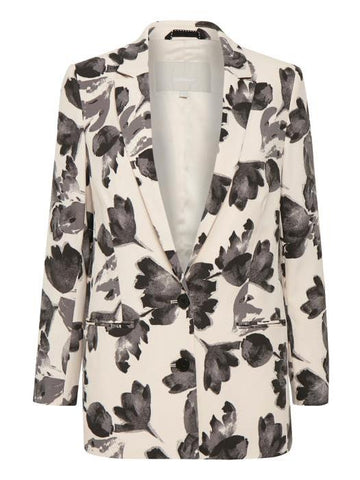 InWear Blush/Grey Leaf Print Jacket
