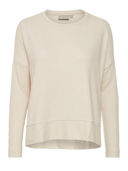 InWear Cream Ribbed Knit Jumper