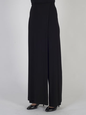 Isabel de Pedro Black Jersey Crossover Skirt and Trouser