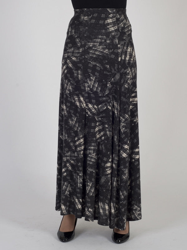 Isabel de Pedro Abstract Printed Jersey Skirt