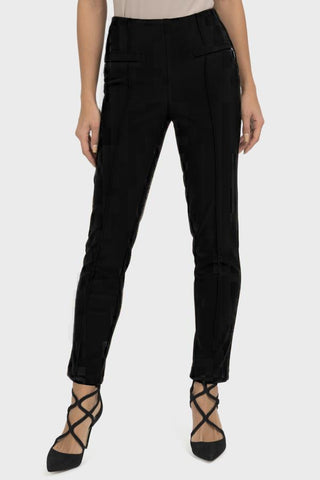 Joseph Ribkoff Black Pull on Zip Trouser