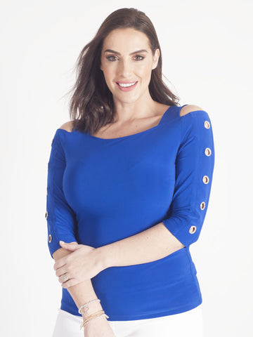 Joseph Ribkoff Royal Blue Jersey Top