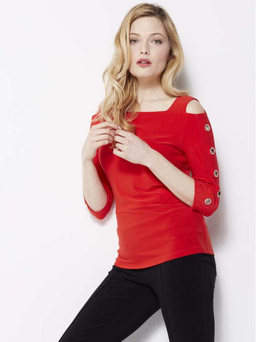 Joseph Ribkoff Red Jersey Top