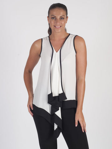Joseph Ribkoff Ivory Sleeveless Top