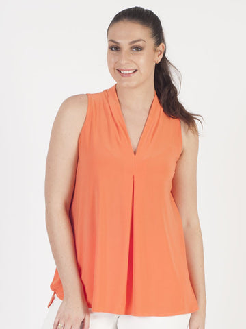 Joseph Ribkoff Orange Sleeveless Jersey Top