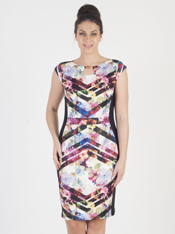 Joseph Ribkoff Multi-Colour Printed Dress