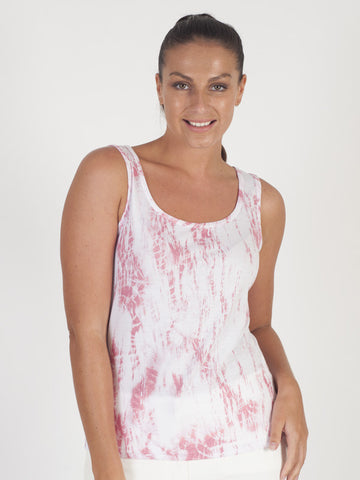 Just White Ivory Printed Sleeveless Top
