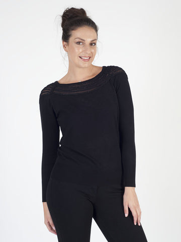 Leo & Ugo Black Sparkle Jumper