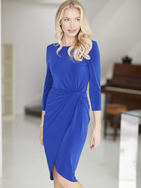 FRANK LYMAN Cobalt Blue Long Sleeve Jersey Dress