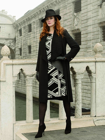 Michaela Louisa Black Long line Coat
