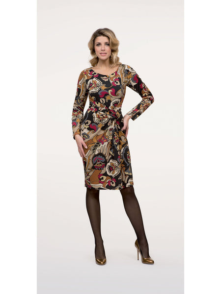 Michaela Louisa Multi Coloured Jersey Print Dress