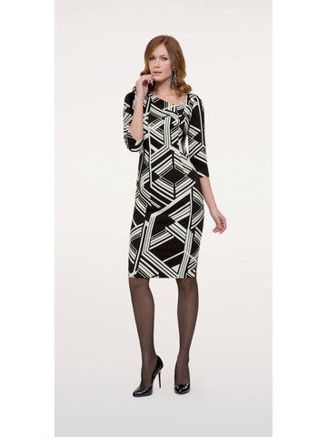 Michaela Louisa Geometric Jersey Print Dress