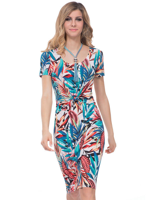 Michaela Louisa Tropical Print Dress