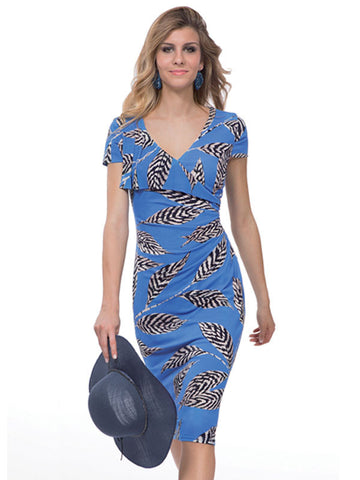 Michaela Louisa Blue Print Dress