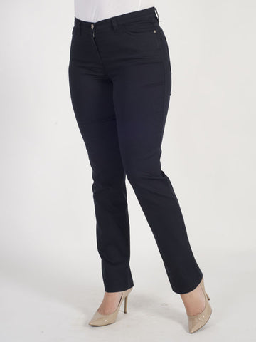 Michèle Magic Navy Soft Cotton Jeans – Regular