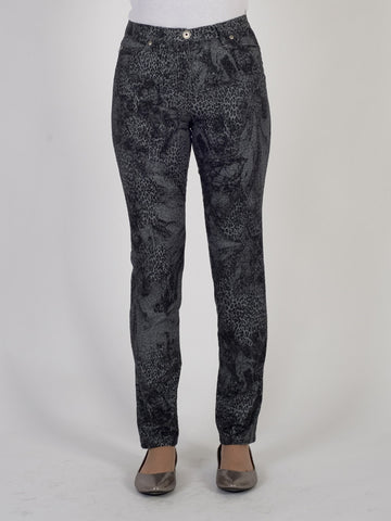 Michele Grey/black Animal Print Magic Jean