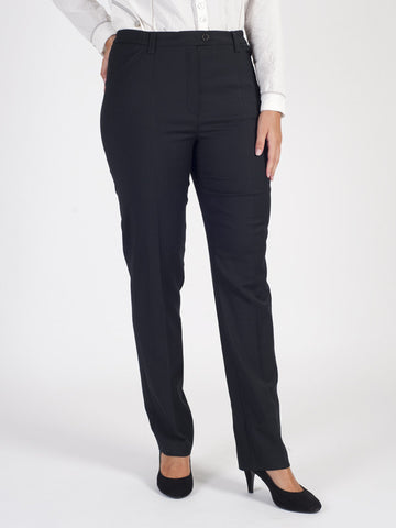 Michele Black Classic Flannel Slim Leg Trouser Regular