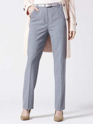 Michele Grey Classic Flannel Trouser - Short