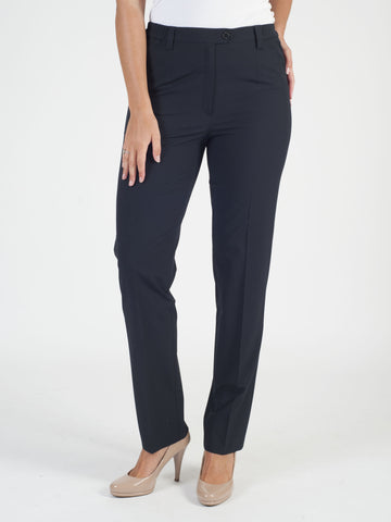 Michele Navy Classic Smart Trouser- Shorter