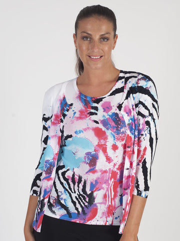 Passioni Multi Abstract Print Twinset