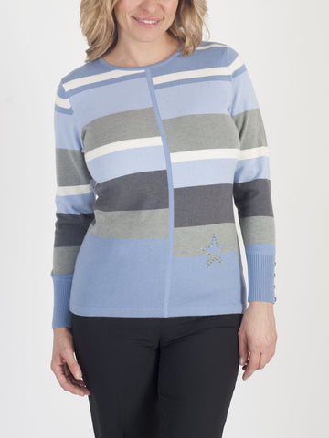 RABE Luxe-knit Stripe Jumper