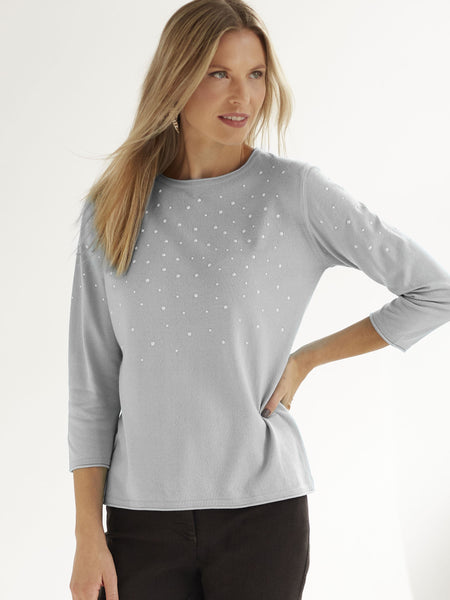 RABE Pearl-trim Jumper