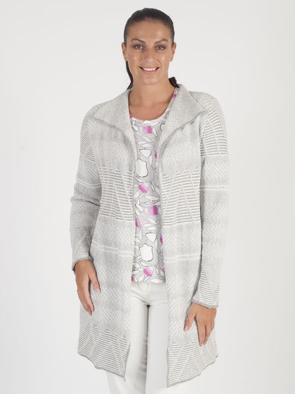 Rabe Grey Stripe Cardigan