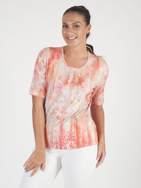 Rabe Printed Jersey Top