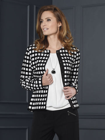 Frank Walder Black and White Check Jacket- Pre Order Mid August