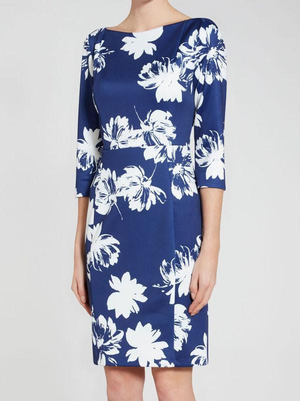 Gina Bacconi Blue Floral  Dress