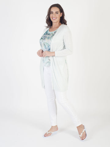 Taifun Mint Knit Long Cardigan