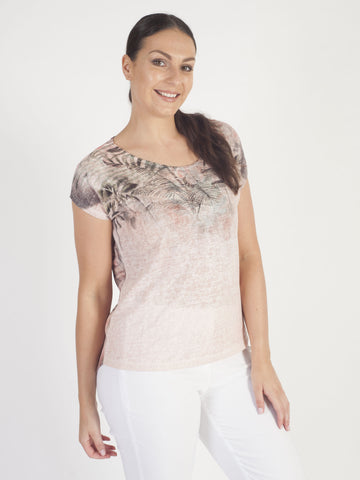 Taifun Peach Print Top