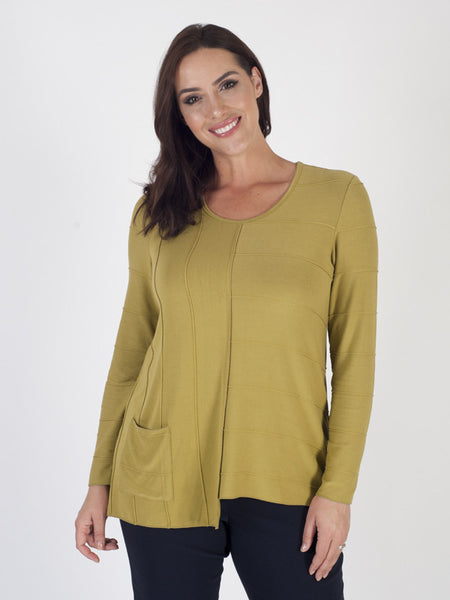 Vetono Lime Jersey Tunic Top
