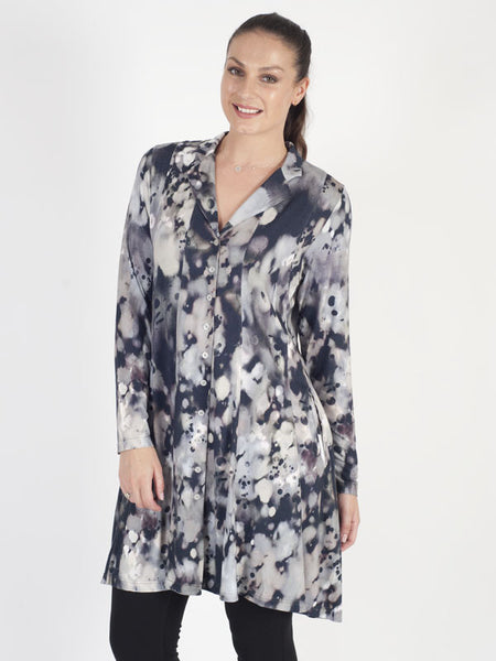 Zeitlos Printed Long Jacket