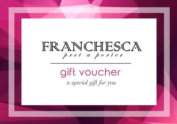 Gift Voucher Cards For Our Luxury Designer Products