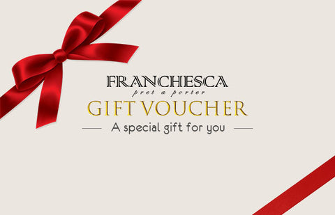 Franchesca Gift Voucher For Our Luxury Designer Brands