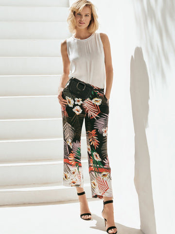 Gerry Weber Blk/Orange Jungle Print Trouser