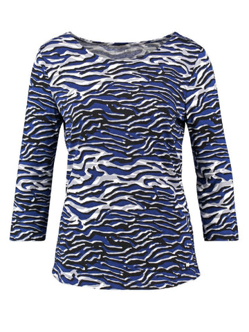 GERRY WEBER Abstract Animal-print Jersey Top