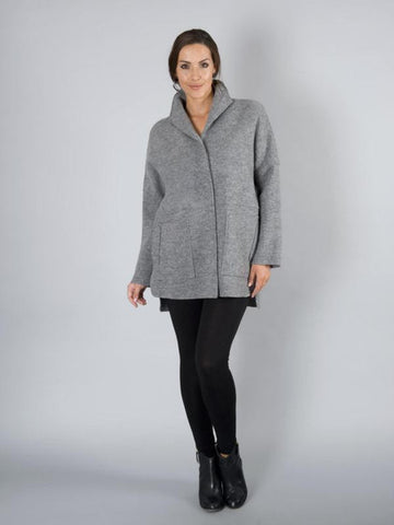Grey Merino Wool Jacket
