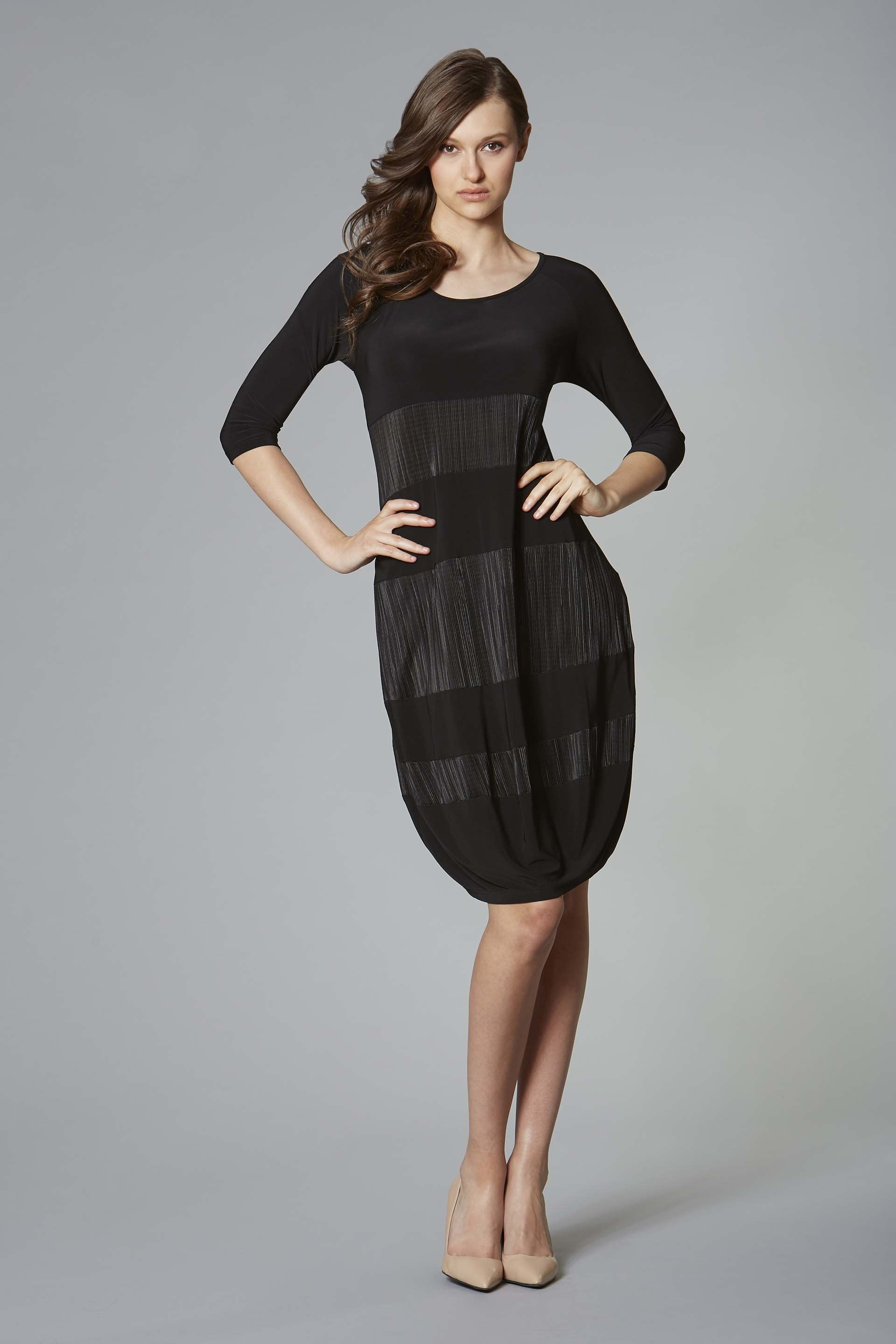 Joseph Ribkoff Black Jersey Cocoon Dress