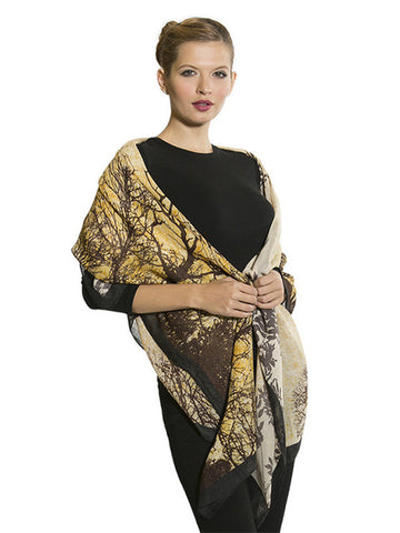 Lemon Brown Autumn Printed Scarf A81Y127 alt1