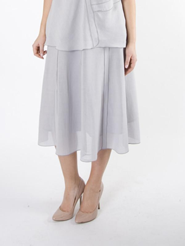 Light Grey Tiered Skirt