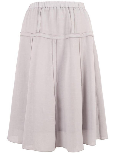 Light Grey Tiered Skirt Chesca