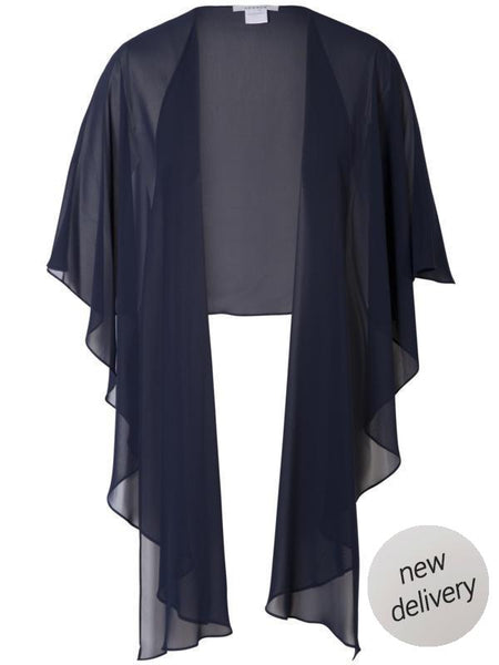 Black Navy Chiffon Shawl